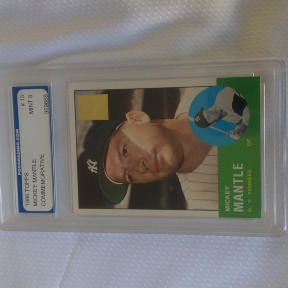 Mickey Mantle graded.